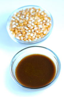 Tamarind Syrup and Corn Kernels