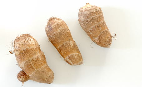 Taro roots (chaama dumpa in Telugu, Arvi in Hindi)
