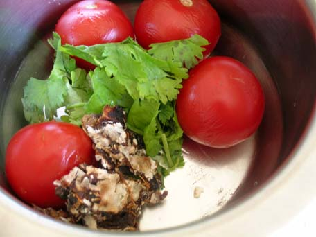 Ripe Tomatoes, Cilantro and Tamarind