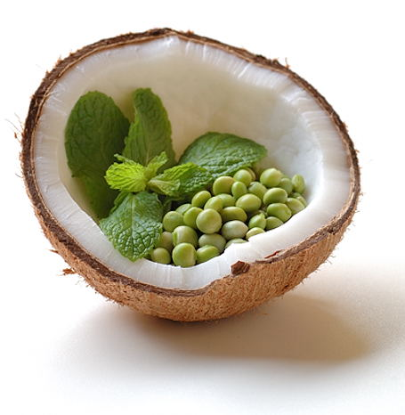 Fresh Coconut, Mint and Tuvar