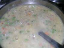 Upma in final stage of making
