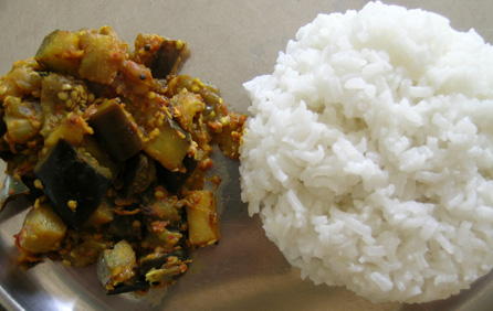 Eggplant Curry With Rice